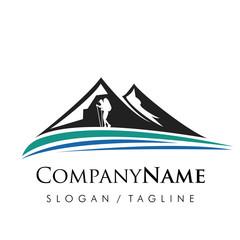Mountain logo icon vector