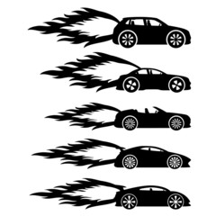 Vector set. Fast cars.