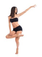 Pretty fitness female posing