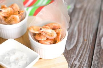 Thai Steamed shrimp .
