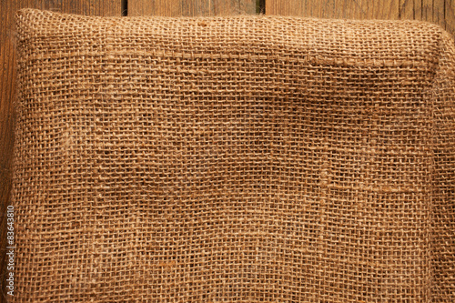 wood and jute texture on picnic table background stock photo and