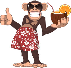 Monkey with a cocktail