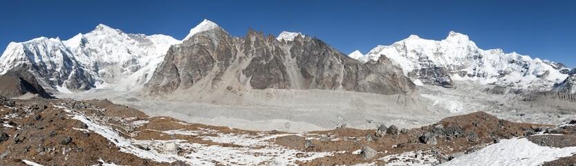 Panoramic view of mount Cho Oyu