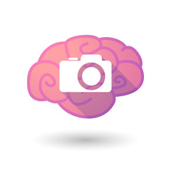 Brain icon with a photo camera