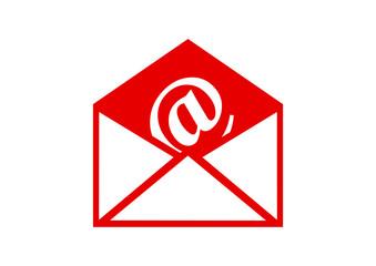 Envelope vector icon on white background