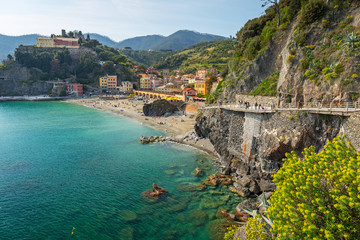 Papiers peints Ligurie Coastline of Monterosso al Mare at Ligurian Sea, Italy