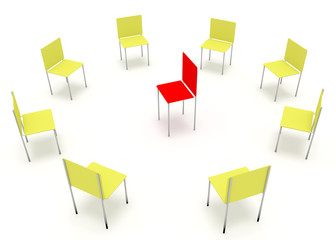 Illustration of leadership in the company