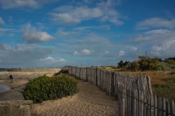 cloture dans les dunes