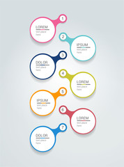 Speech bubble timeline template. Infographic vector.