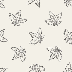 plant doodle seamless pattern background