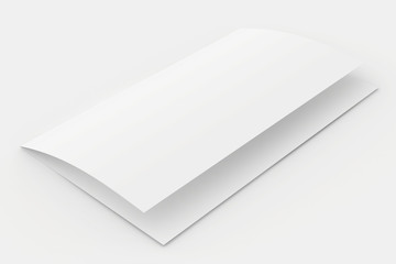 The folded blank sheet of paper