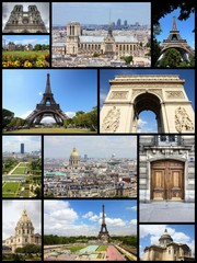 Paris, France - travel collage