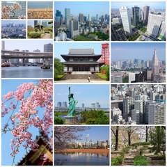 Tokyo, Japan - travel collage