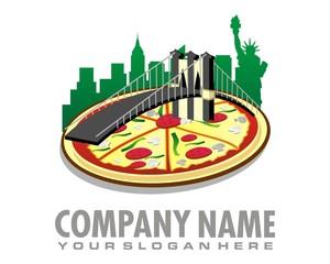 pizza new york logo image vector