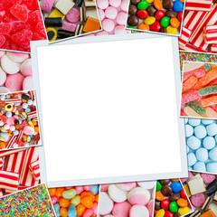 Frame photos of candy
