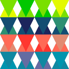 Triangle seamless flat pattern