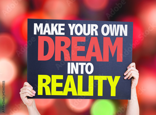 Make your own dream into reality card with bokeh stock for Build your own net dream