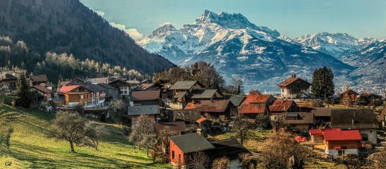 Panex, Picturesque village of Swiss