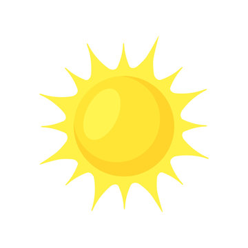 Sun shining.