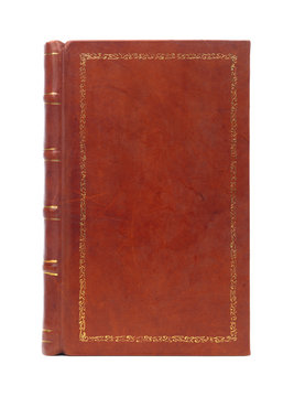 Leather bound vintage book cover