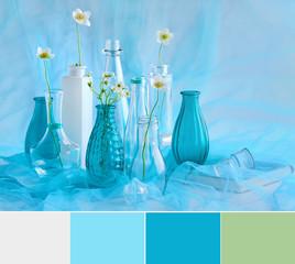 turquoise still life, palette