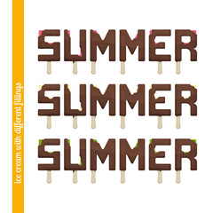 Set Summer Ice Cream