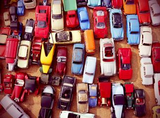 petites voitures à la brocante