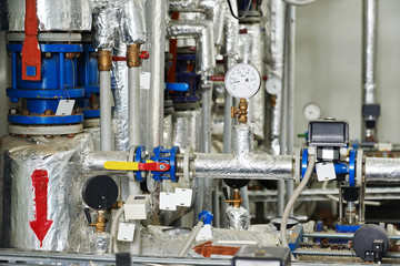 gas heating system boiler room equipments
