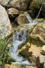 mountain stream surrounded by rocks