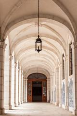 Sao vicente de fora architectural details in Lisbon, Portugal