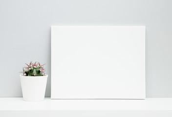 Hipster scandinavian design. Room decoration. Mock up. White pot