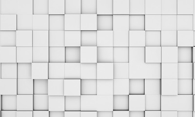 abstract white cubic background