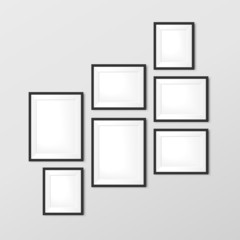 elegant blank photo frames set