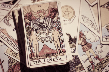 Tarot Cards - Card of The Lovers.
