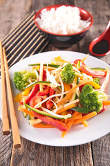 fried vegetable, asian cuisine