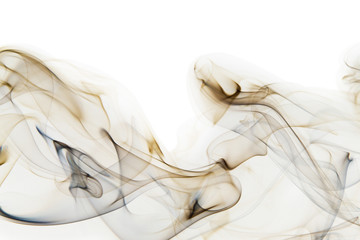Abstract cigarette smoke isolated on white
