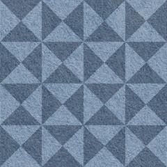 Abstract paneling pattern - seamless pattern - blue denim