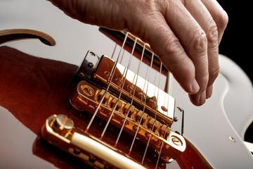 Wall Mural - hand playing guitar