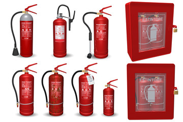 Fire extinguisher, types and details. How to put out a fire.