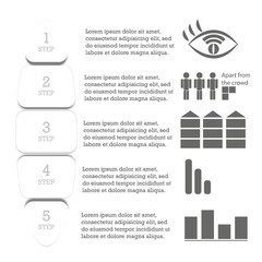 Infographics. Step by step illustration of action
