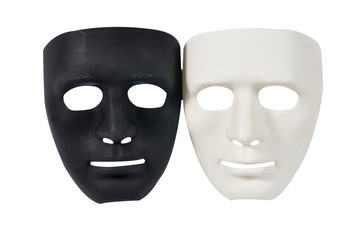 Black and white masks like human behavior, conception