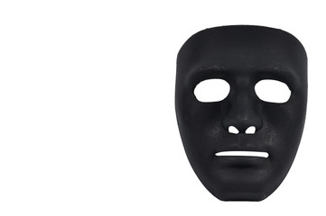 Black masks like human behavior, conception