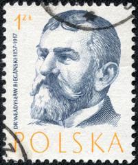 stamp printed by Poland, shows Wladyslaw Bieganski