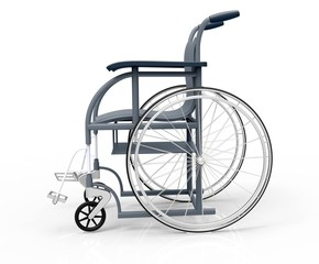 wheelchair isolated on a white back ground