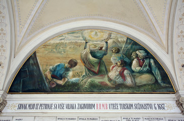 Votive paintings, Basilica Assumption of the Virgin Mary in Marija Bistrica, Croatia