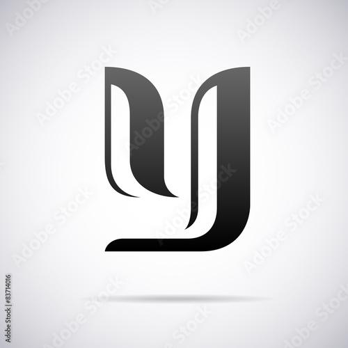 Vector Logo For Letter Y Design Template