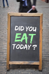 Did you eat today question