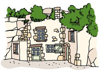Maison Troglodyte Anjou Couleur