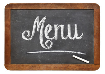menu blackboard sign
