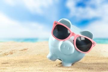 Bank, banking, summer.